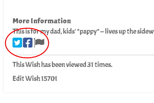 Share your Wish to Pick-a-Wish Facebook Group